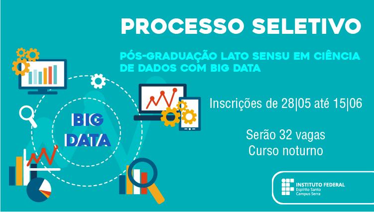 Divulgado o edital da pós-graduação lato sensu em Ciência de Dados com Big Data do Campus Serra