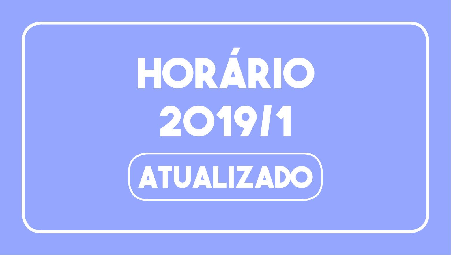 Divulgado atualização do horário de aula 2019/1