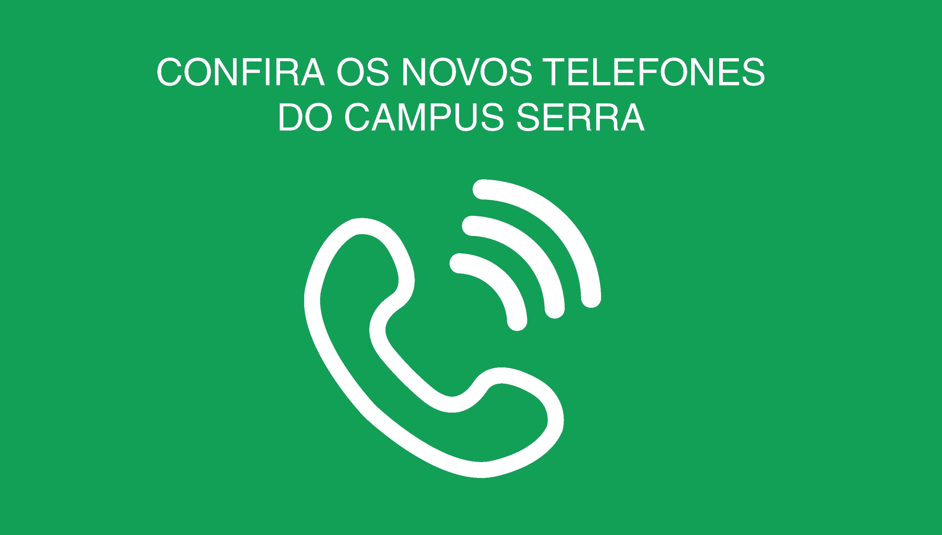 Novos telefones do Campus Serra
